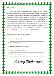 holiday reading worksheet free christmas reading worksheets new