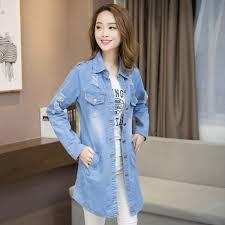 buy plus size women denim jacket coat jaqueta feminina spring new