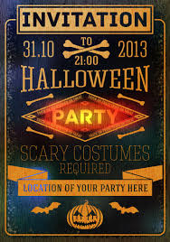 halloween party invitation vector free vector graphic download