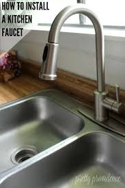 how to install a new kitchen faucet how to install a kitchen faucet step by step tutorial