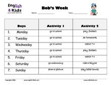 esl kids worksheets days of the week worksheets