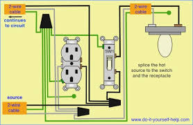 wiring diagram light switch to outlet somurich