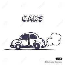 cartoon car air pollution pencil drawing images cartoon car blowing exhaust
