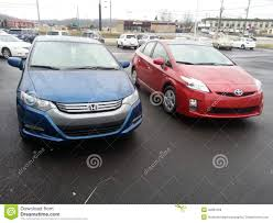 cars toyota hybrid cars toyota prius and honda insight editorial photo