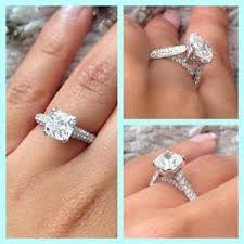 cushion cut engagement rings with halo 2 35 ct cushion cut solitaire engagement ring pave d