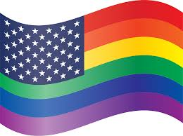 Usa Rainbow Flag Clipart Waving Rainbow Stars And Stripes