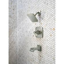 venturi single handle 1 spray bath tub and shower faucet brushed