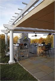 Outdoor Kitchen Backsplash Ideas Outdoor Kitchen Design And Decorating Ideas Using Light Grey