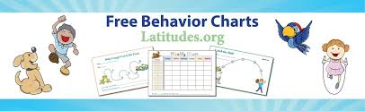 free printable behavior charts for home and acn latitudes
