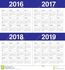 Kalender 2018 Helgdagar Kalender 2016 2017 2018 2019 Arkivfoto Bild 61291755