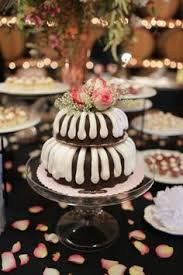 bundt cake with bundtinis wedding cake tower created by nothing