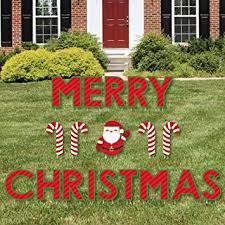 lighted merry christmas yard sign amazon com merry christmas yard sign outdoor lawn decorations
