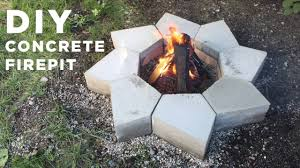Concrete Fire Pit by Diy Concrete Firepit Made With A Cnc Machine Youtube