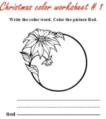 christmas worksheets to learn colors christmas color games for kids