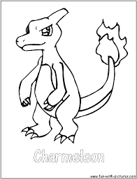 charmeleon coloring pages getcoloringpages com