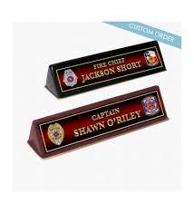 Custom Desk Plates Name Plates For Fire Department