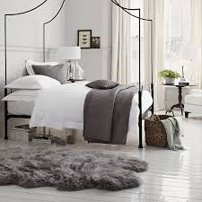 White Bedrooms Pinterest by Grey Faux Sheepskin Rug For Bedroom Faux Sheepskin Rug