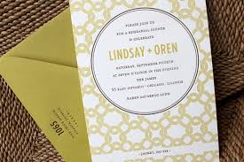 Rehearsal Dinner Invitations Modern Rehearsal Dinner Invitation