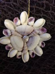 shell mirror ornament christmas ornament compact and christmas tree