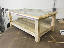 Deck Coffee Table - coffee table from old deck material woodworking talk