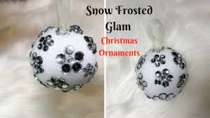 snow frosted glam ornament dollar tree diy