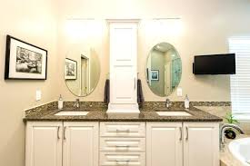 double sink vanity with middle tower vanity with tower cabinet free standing units wall mount free