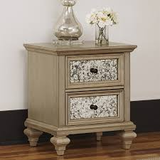 shop home styles visions silver gold champagne mahogany nightstand