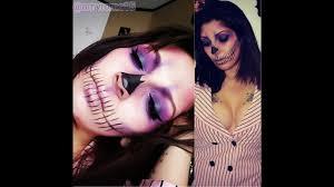 purple skull makeup halloween tutorial youtube
