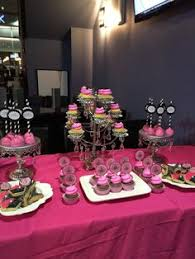 Pink And Black Candy Buffet by Baby Shower Pink And Purple Dessert Table Cupcake Table Purple