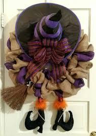 halloween wreath how to make a witch halloween burlap wreath video