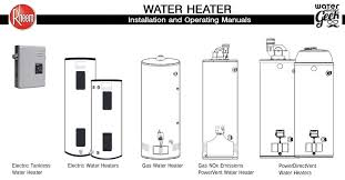 rheem water heater manuals u2013 water heater geek