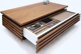lade wood teakhouten design salontafel met verborgen lade voor speciale