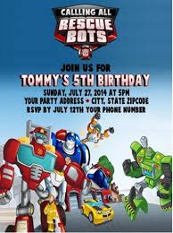 transformer rescue bots party supplies transformers rescue bots birthday party invitations custom