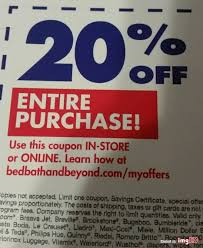 Coupon Bed Bath And Beyond 20 Off 20 Off Entire Purchase Bed Bath And Beyond Coupon Expires On