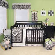 Green And White Crib Bedding Ethnic Black And White Baby Crib Bedding Set Mixed Green Wall