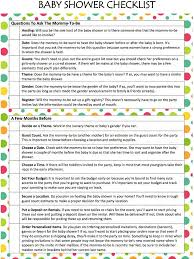 baby shower question baby shower checklist free printable munchkins