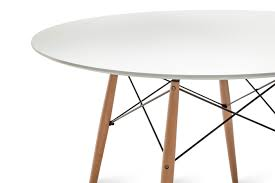 Replica Eames Dining Table Replica Eames Dsw Round Dining Table 120 White