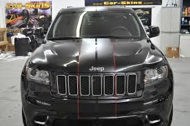 matte jeep cherokee jeep grand cherokee u2013 matte black racing stripes red pinstripes