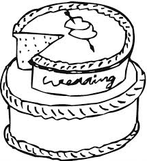 wedding cake picture coloring coloring pages