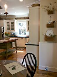 benjamin moore powell buff in country farmhouse kitchen kylie m e