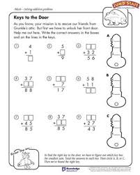 keys to the door math worksheets for 4th grade jumpstart