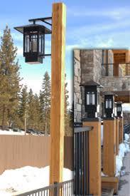 custom design and manufacture wood light poles