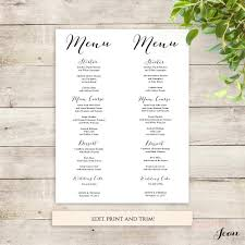 printable menus place cards numbers and seating chart connie