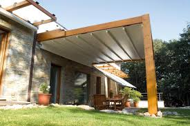 Motorized Pergola Cover by The Firenze Pergola Cover Retractableawnings Com