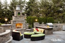 Outdoor Kitchen Lights Techo Bloc Fireplace Outdoor Kitchen Outdoor Lighting Patio