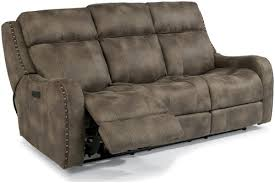 flexsteel latitudes springfield power reclining lay flat sofa with