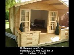 Free Plans To Build A Wood Shed by How To Build A Log Cabin Or Summerhouse In Your Garden Youtube