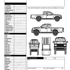 car damage report template car line draw insurance rent damage stock vector 309121715 with