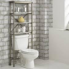 bathroom toilet shelf ideas white round drop in sink grey color