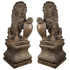 henri pedestal set of 2 garden statues costco uk